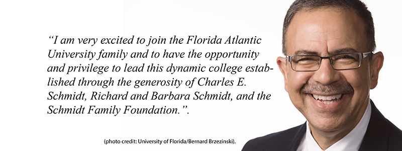 Ata Sarajedini, Ph.D.,named dean of the Charles E. Schmidt College of Science